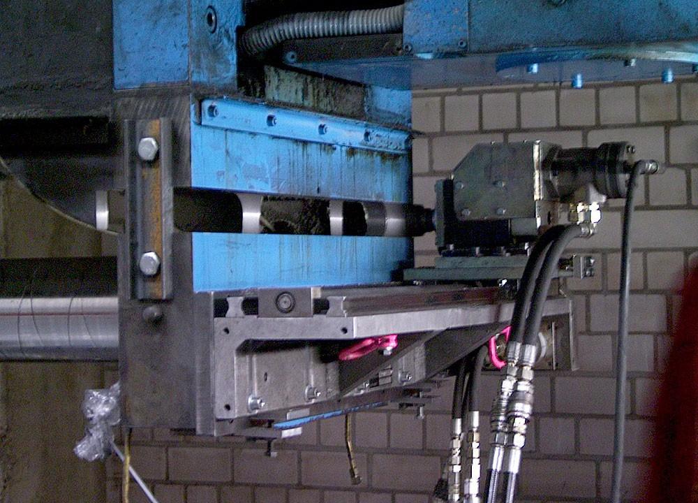 FGH 1100 - Abtrennen mobil eines Maschineteils durch Fraesen - 750 mm lang