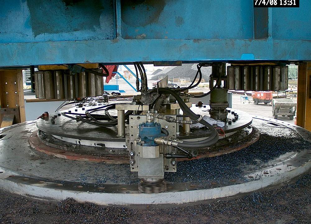 PG 2565 - Planfräsen mobil Drehkranzauflagefläche - Ø 3500 mm - Ø 3800 mm