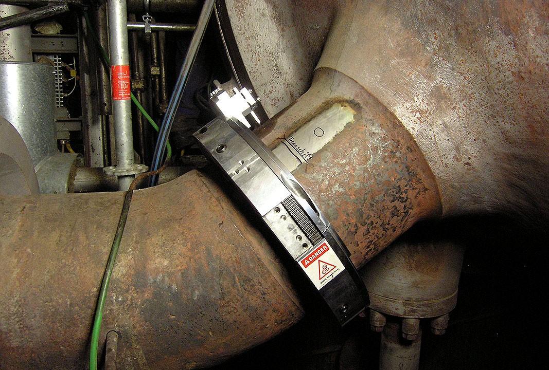 Rohrtrennen mobil - Ø außen 330mm x 55mm Wanddicke - Montage
